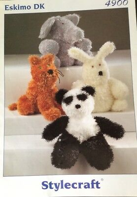 """DK Knitting Pattern Toy Animal Elephant  9.5/"""" In height"""