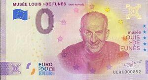 BILLET 0  EURO LOUIS DE FUNES  FRANCE   2020  NUMERO DIVERS EPUISE