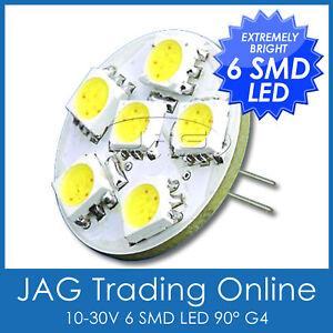 10V~30V 90° HORIZONTAL 6-SMD LED G4 WHITE LIGHT - Downlight/MR11<wbr/>/Down Light/Lamp