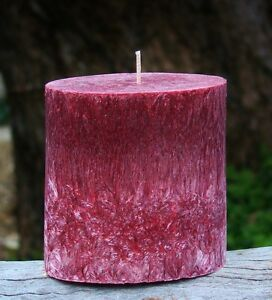 80hr BLACK ROSES & SANDALWOOD Natural OVAL Triple Scented CANDLE Earthy Gifts