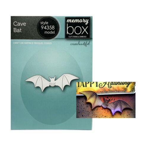 Cave Bat Metal Die Cut Stencil Halloween Animals Memory Box Craft Cutting Dies