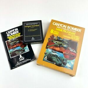 Canyon-Bomber-Atari-2600-Video-Game-Complete-in-Box-Free-Shipping-w-Manual-VTG