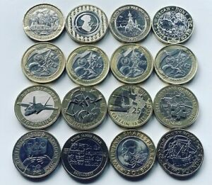 RARE £ 2 MONETE Royal Nuovo di zecca MEDAGLIA Due Pound Commonwealth OLYMPIC Bibbia Navy RAF