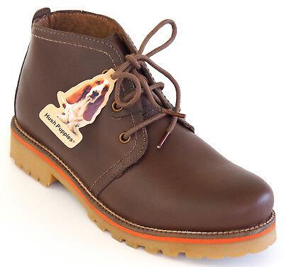 Hush Puppies Schnür Boots 38 LEDER Dunkel Braun Stiefelette Outdoor Schuh NEU