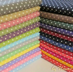 3mm-Spots-Polka-Dots-Fabric-100-Cotton-Material-Clothing-Patchwork-Craft