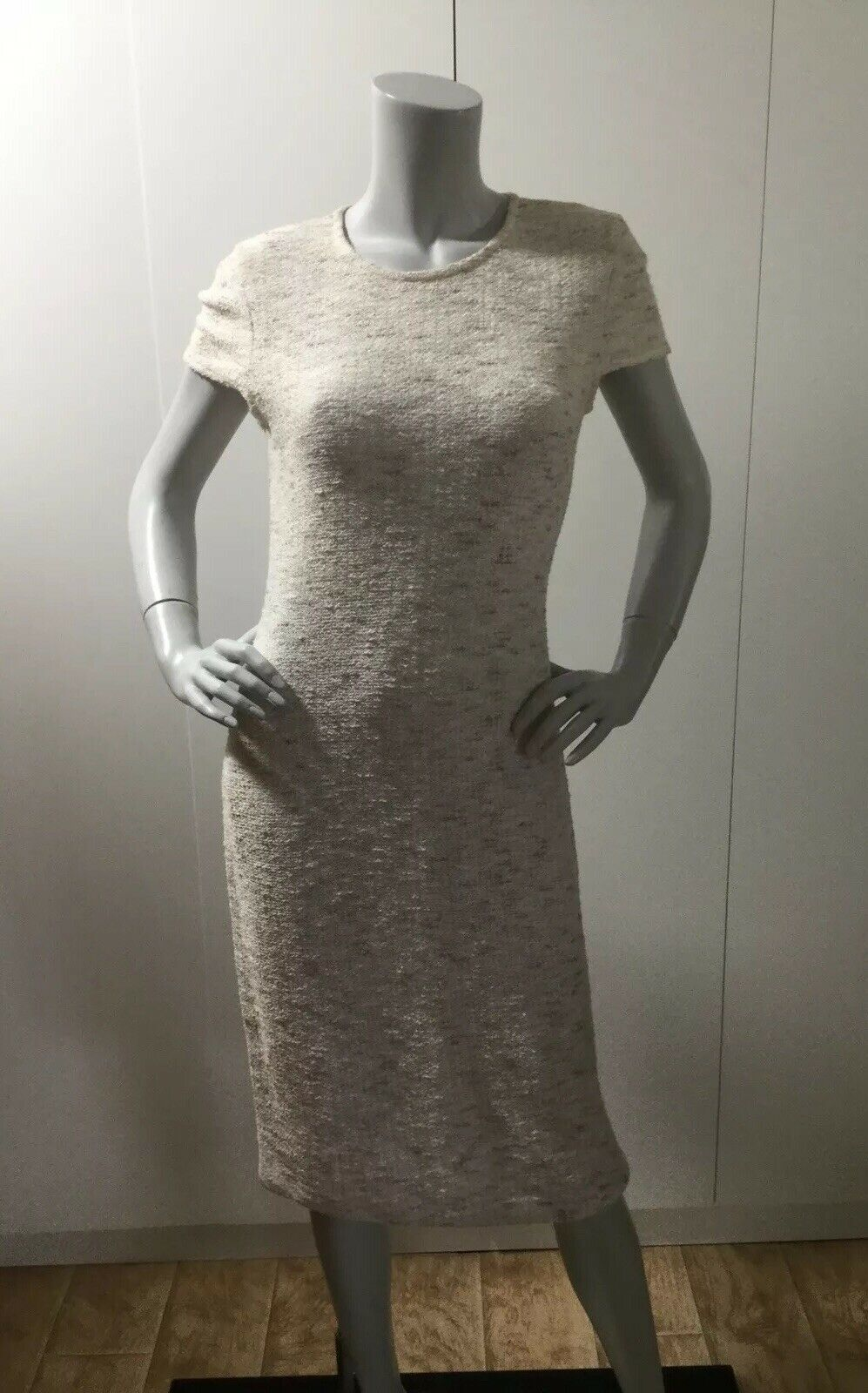 St.John Collection Tweed Knit Short Sleeve Dress Size 6