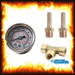 Details about Liquid Fuel Pressure Gauge Kit Injection Testing Test  Regulator 160 PSI 1/8 NPT