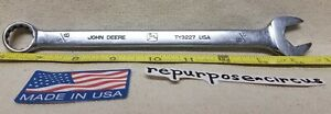 """Vintage John Deere USA TY3227 5/8"""" Combo Open/Box End 12-point Wrench OLD LOGO"""