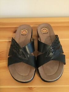 Earth-Spirit-Gelron-2000-Sandals-Size-6-5-Carly-Black-Color