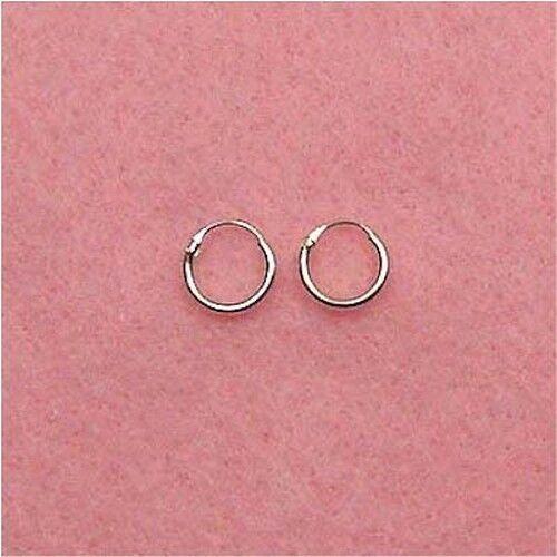 Sterling Silver ER003 8mm Hoop Earrings