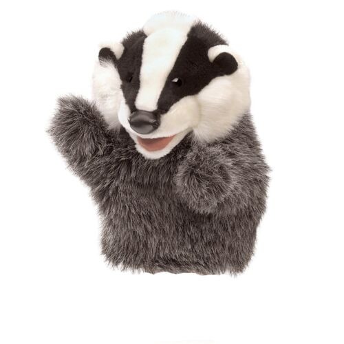 Badger Puppet with Movable Mouth & Forelegs by LITTLE Folkmanis MPN 3102, Unisex