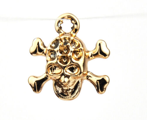 Quality Gold Silver Charms for Bracelet Necklace Craft DIY Skull Butterfly Rose