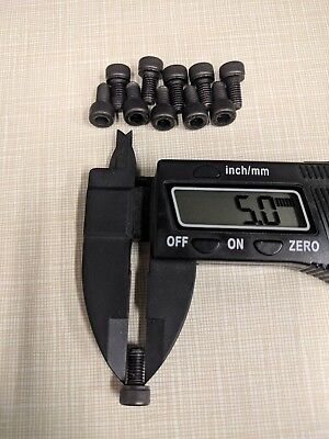 Black Oxide 0.8 Thread Pitch M5 x 10mm Socket Head Cap Screw Bolt 12.9 Steel