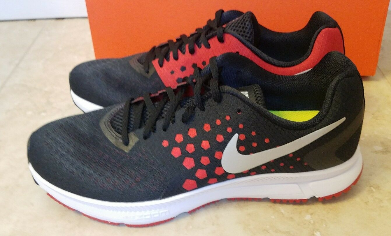 New Nike Mens Zoom Span Athletic Running shoes Sneakers Black Red Silver Sz 11.5