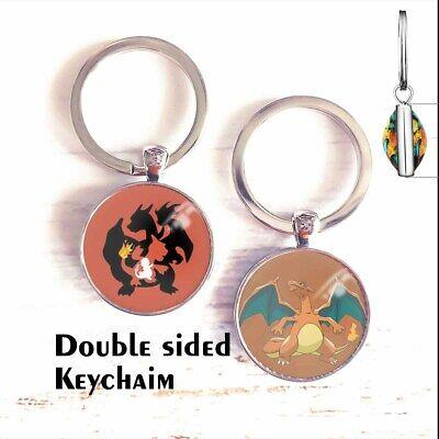 Charizard Key Chain Key Ring Pokemon Poke Double Sided Free Ship New