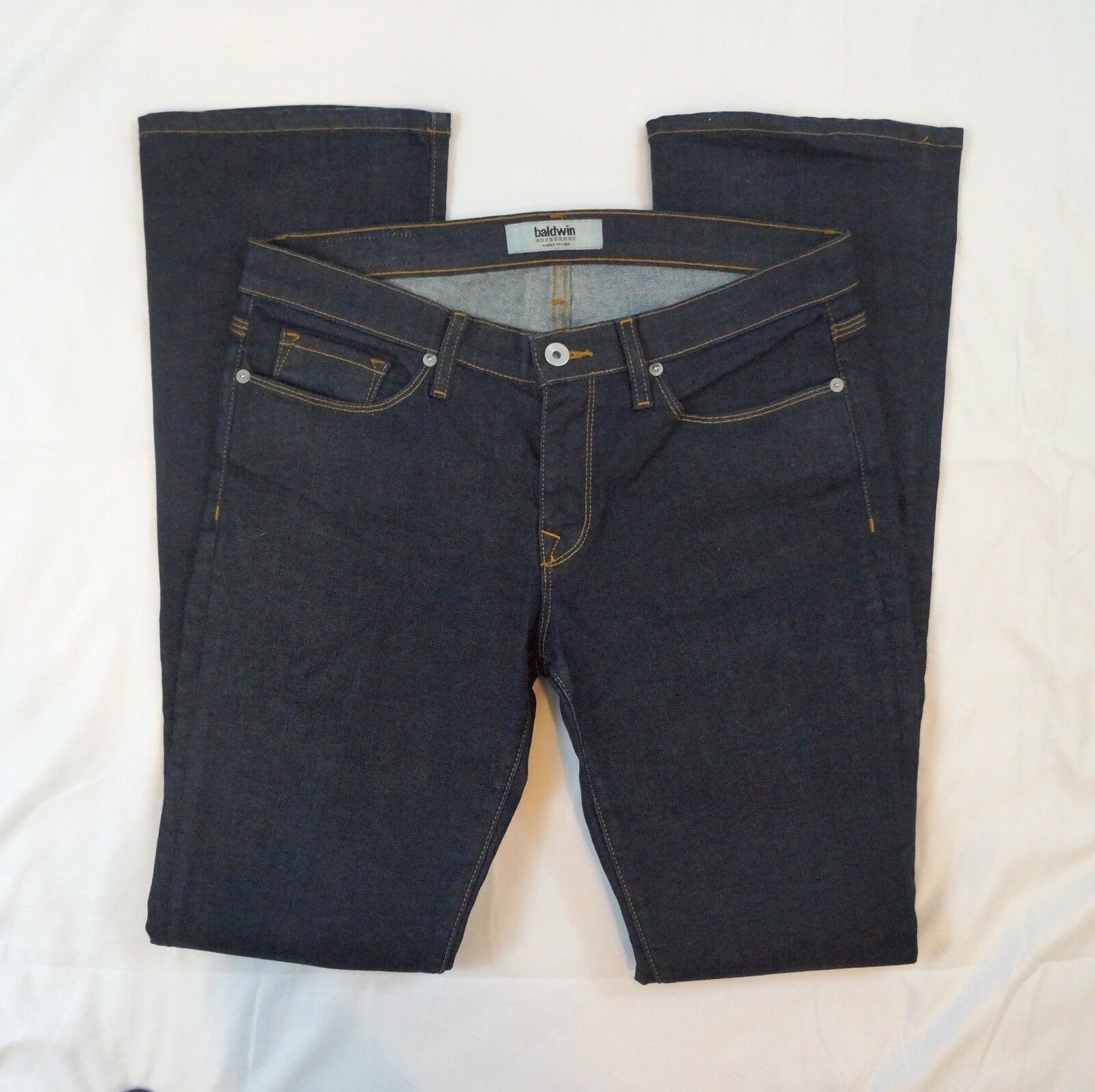 Baldwin The pink Boot Cut Womens Size 31 Low Rise Dark Wash Jeans