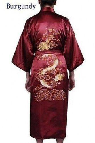 Asia Herren//Damen Wende-Kimono Japan//China Satin Bade-//Morgenmantel Heiß