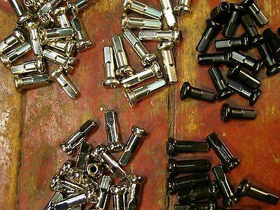 CN Silver /& Black 13 /&16mm *Any Quantity* NEW BRASS NIPPLES 12 Gauge 2.6mm WM