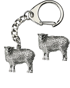 Sheep-Welsh-Key-ring-And-Pin-Badge-Boxed-Gift-Set-Handcrafted-In-Pewter