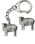 Sheep-Welsh-Key-ring-And-Pin-Badge-Boxed-Gift-Set-Handcrafted-In-Pewter thumbnail 1