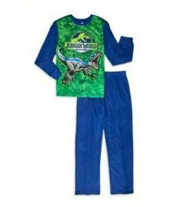 NWT Jurassic Park World 2 Piece Fleece Pajamas PJ Set Tyrannosaurus Rex