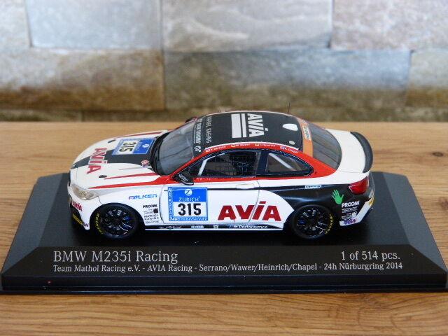 Bmw m235i mathol racing avia 24h n ü rburgring 2014 315 minichamps modello - auto