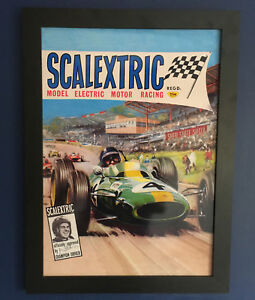 Scalextric-Jim-Clark-Vintage-1965-Framed-Poster-A3-Size-Shop-Display-Sign-Advert