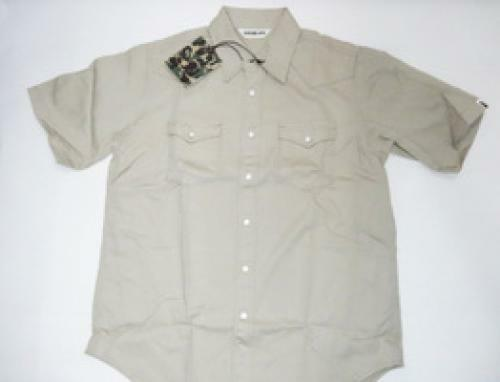 A BATHING APE champions logo embroidered Western shirt [brand new]