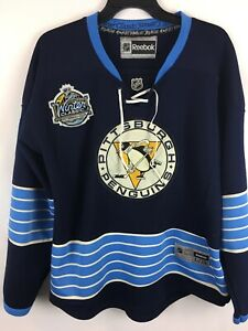 new arrival 20f12 a1bf2 Details about Vtg Pittsburgh Penguins Jersey #11 Jordan Staal Winter  Classic Size 54