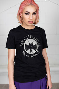 Official-My-Chemical-Romance-Pipistrello-T-Shirt-Unisex-Nero-Parata-Spaventosa-L