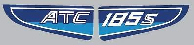 1982 82/' ATC 185s Rear fender vintage decals ATV 2pc stickers graphic