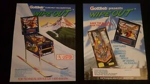 1x Wipe Out - Gottlieb - ORIGINAL NOS Promotional Advertising Flyer