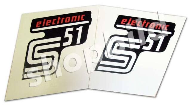 Aufkleber Simson S51 elektronik