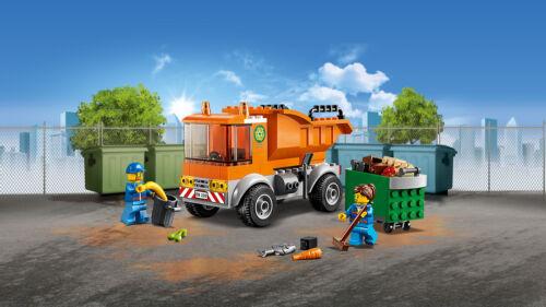 LEGO® CITY 60220 Müllabfuhr Grundschulkinder Müllcontainer N2//19