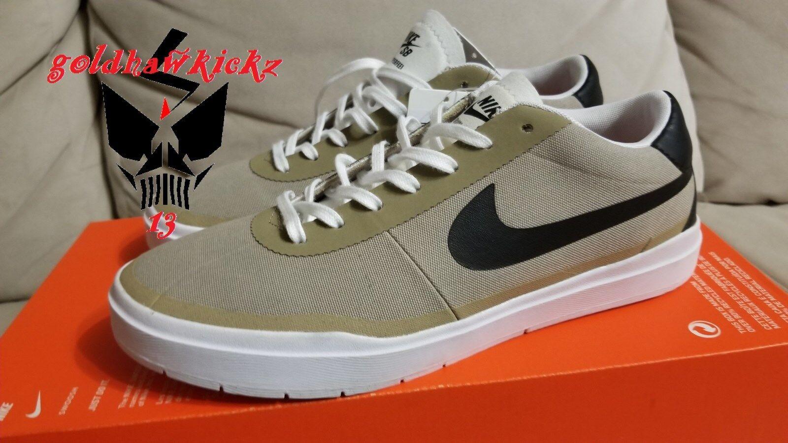 Nike sb bella hyperfeel cnvs tela cachi bianco nero 883680 201 skate - board