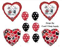 Mickey Minnie Vintage Love Happy Birthday Party Balloons Decorations Supplies