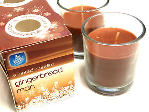 2 x GINGERBREAD SCENT CANDLES GIFT PRESENT HOME DECOR GINGER BREAD