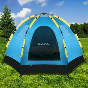 Image is loading Ancheer-5-8-Man-Pop-Up-Tent-Quick- & Ancheer 5-8 Man Pop Up Tent Quick Pitch Festival Camping ...