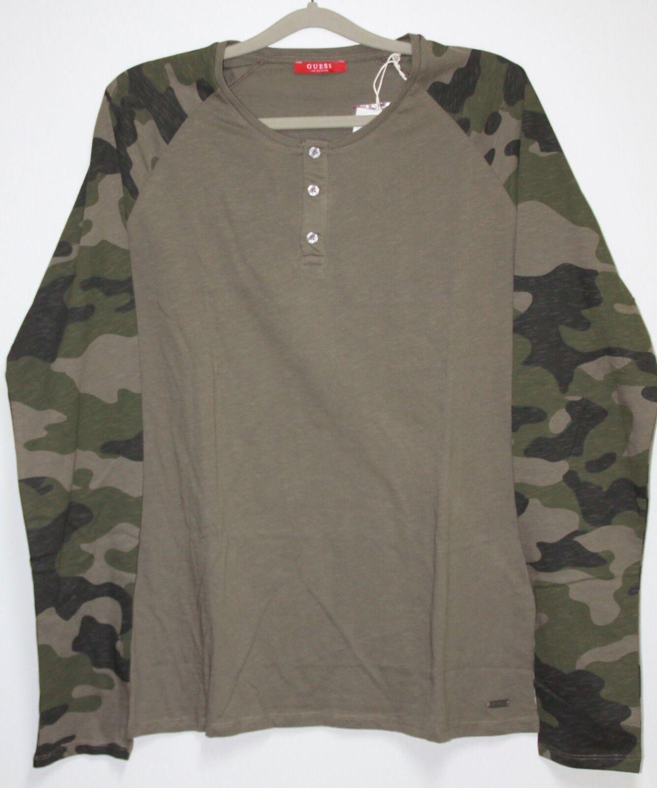 GUESS Langarm Shirt   Größe XXL  Olive Camouflage   Neu mit Etikett  | Qualität und Quantität garantiert  | Neue Produkte im Jahr 2019  | Feine Verarbeitung