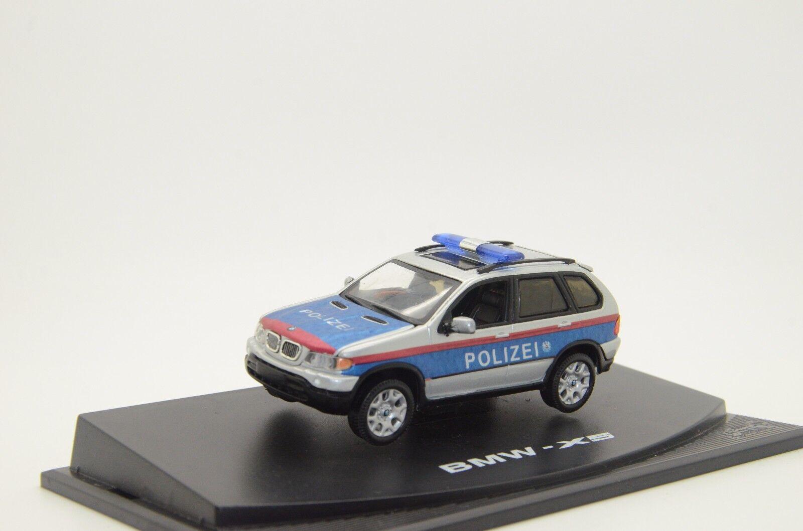 rara BMW X5 Austria Polizei Policía Coche Hecho a Medida 1/43