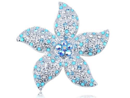 Alliage Cristal éléments synthétique Turquoise Bead Stargazer Lily fleur broche cadeau