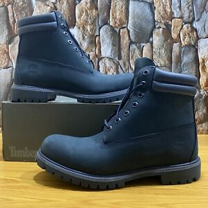 TIMBERLAND MEN'S 6 INCH PREMIUM DOUBLE COLLAR WATERPROOF NAVY A1L3C SIZE 12M