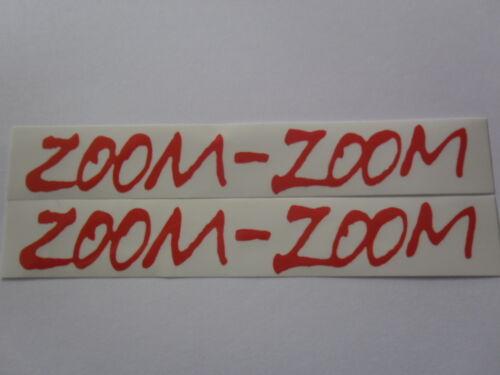 "Zoom Zoom Vinyl Decals Stickers 4.5/"" //6/"" //7/"" weather proof heavy duty glue pair"
