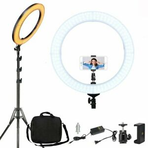 Utile Zomei 18 In (environ 45.72 Cm) Anneau De Lumière Del Réglable Avec Support Téléphone Portable Spring Clip Holder-afficher Le Titre D'origine