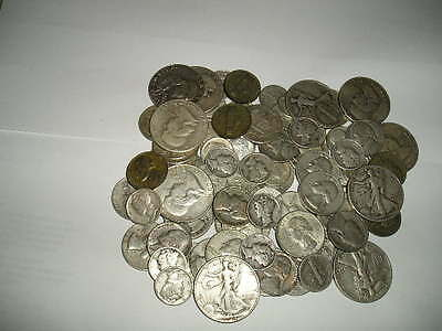 1//2+oz US SILVER COINS PRE-1965 90/% PURE MIXED DATES~ FREE S//H /& COINS AVAIL!!