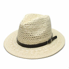06443317e48 item 4 Summer Unisex s Sun Beach Raffia Fedora Panama Hat Wide Brim Cap  Hollow Out 58CM -Summer Unisex s Sun Beach Raffia Fedora Panama Hat Wide  Brim Cap ...