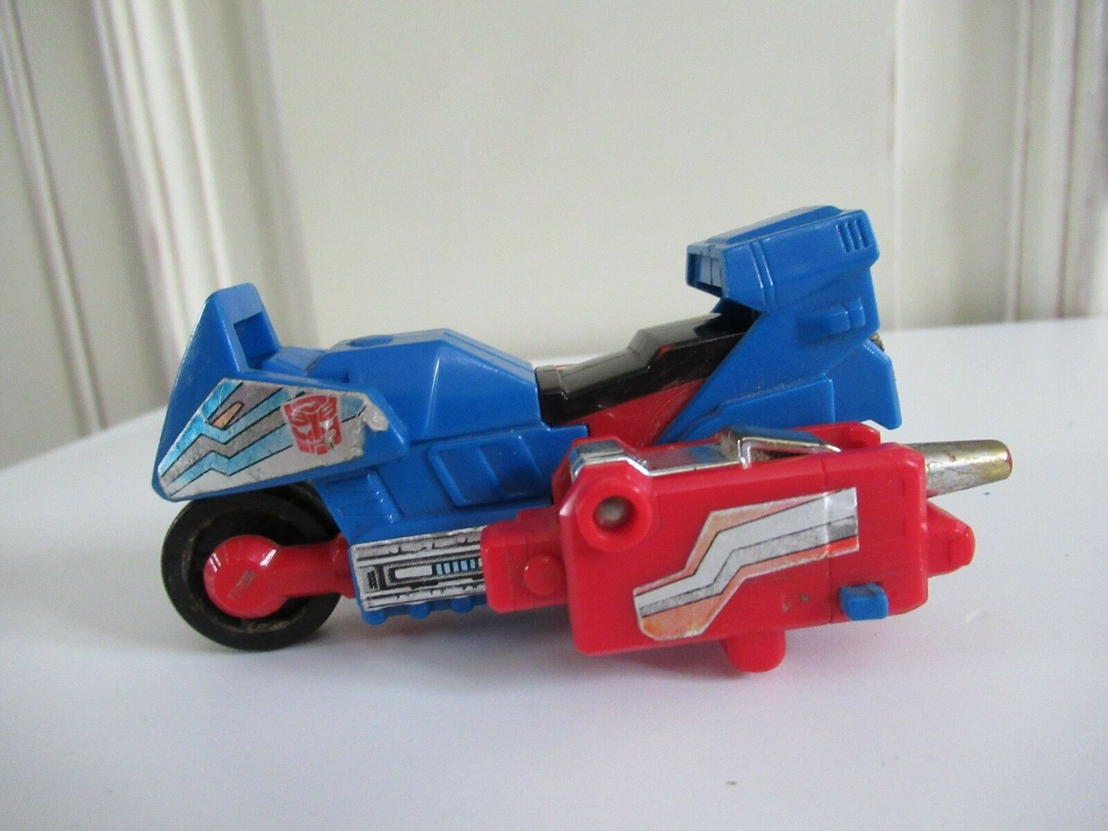 ☺ Ancien Robot Figurine Moto Transformers Takara 1988 Hasbro Vintage