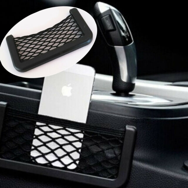 Car Resilient String Storage Net Bag Holder Fits Phone holder Pocket Organizer