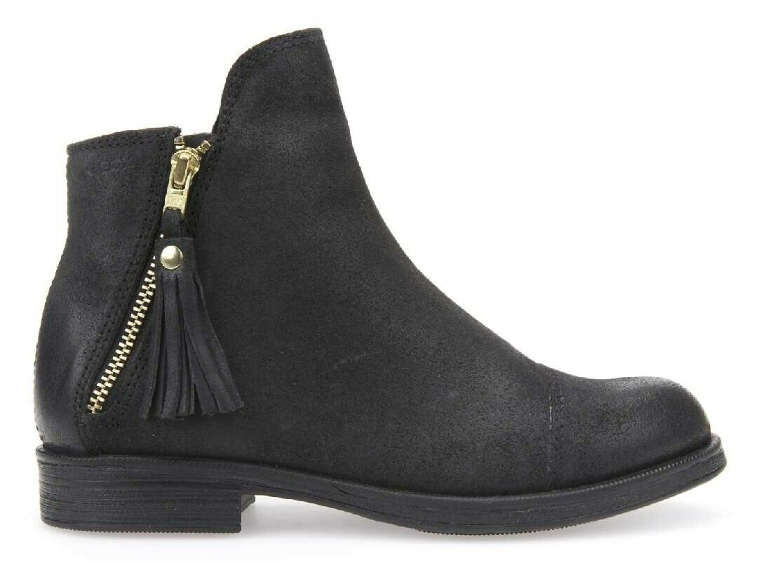 GEOX AGATE J5449C girl's shoes woman boots ankle boot suede