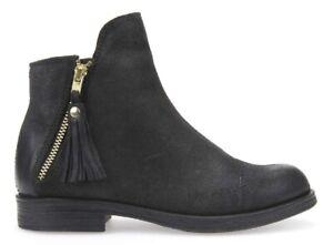 GEOX-AGATA-J5449C-scarpe-bambina-donna-stivali-stivaletti-tronchetto-camoscio